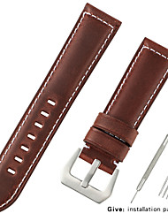 cheap -Genuine Leather / Calf Hair Watch Band Strap for Black / Blue / Brown 20cm / 7.9 Inches 2.2cm / 0.9 Inches / 2.4cm / 0.94 Inches / 2.6cm / 1.02 Inches