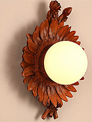 cheap -Country Flower Wall Sconce Resin Wall Lighting Fixture Adorable Traditional / Classic / Country Flush Mount wall Lights Shops / Cafes / Bathroom Resin Wall Light