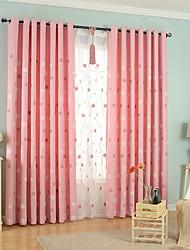 Недорогие -вышитые цветочные шторы две панели занавески для гостиной шторы