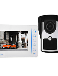 cheap -7 inch wired touch button video doorbell HD villa video intercom outdoor unit night vision rain unlock function