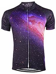 cheap -21Grams Galaxy Stars Women's Short Sleeve Cycling Jersey - Bule / Black Bike Jersey Top Breathable Moisture Wicking Quick Dry Sports Terylene Mountain Bike MTB Clothing Apparel / Micro-elastic