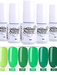 Недорогие -лак для ногтей 6 шт. цвет 157-162 xyp soak-off uv / led гель лак для ногтей сплошной цвет лак для ногтей наборы