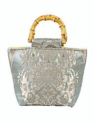 cheap -Women's Bags Polyester Evening Bag Embroidery Embroidery Floral Print Wedding Bags Wedding Party Event / Party Blue