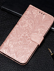 cheap -Case For Google Google Pixel 3 / Google Pixel 3 XL / Google Pixel 3a XL Wallet / Card Holder / with Stand Full Body Cases Flower Hard PU Leather