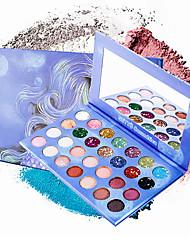 Недорогие -28 цветов Тени Тени для век / На открытом воздухе Pro / Прост в применении / Ультралегкий (UL) Офис Повседневный макияж косметический