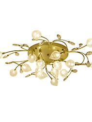 cheap -16 Bulbs ZHISHU 85 cm Crystal / Creative / New Design Flush Mount Lights Metal Glass Cluster / Empire / Bowl Electroplated Artistic / Chic & Modern 110-120V / 220-240V / G4