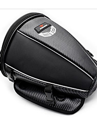 cheap -WOSAWE Motorcycle Tank Rear Seat Bag Waterproof Side Bag Multi-function Black