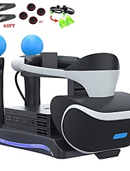 cheap -Charger Kits PSVR Controller Charger Bracket Second Generation PS4 VR 4 in 1 Multi-function Game Controller Charger Base Headset Charging Seat