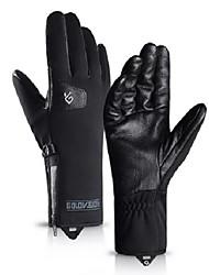 Недорогие -зимние перчатки мотоцикла ветрозащитный водонепроницаемый противоскользящая регулируемая теплая кожа сенсорный экран сгущаться