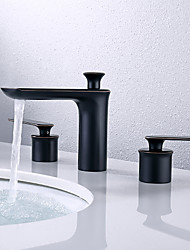 cheap -Bathroom Sink Faucet - Widespread Oil-rubbed Bronze Centerset Two Handles Three HolesBath Taps