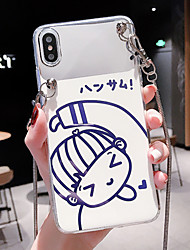 cheap -Case For Apple iPhone XS / iPhone XR / iPhone XS Max Dustproof / IMD / Pattern Back Cover Sexy Lady / Cartoon PC