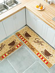 cheap -2PCS/Set Simple Cartoon Printed Non Slip Floor Mat Carpet for Kitchen Door