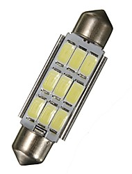 cheap -2 x 42MM Festoon 5630 Chip 9-LED SMD 6000K Map/Dome Lights