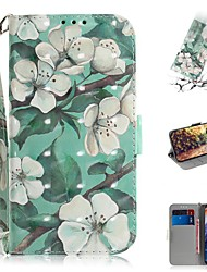 cheap -Case For Nokia Nokia 9 PureView Wallet / Card Holder / Shockproof Full Body Cases Flower PU Leather