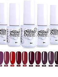 cheap -Nail Polish 12 Pcs color 97-108 xyp  Mottled Soak-Off UV/LED Gel Nail Polish Solid Color Nail Lacquer Sets