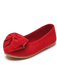 cheap -Girls' Comfort / Flower Girl Shoes Faux Leather Flats Little Kids(4-7ys) / Big Kids(7years +) Bowknot Red Spring / Fall / Party & Evening / TR