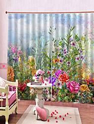 Недорогие -цветок море природный ландшафт шторы уф цифровая печать теплоизоляция звукоизоляционные ткани занавес для кабинета / спальни / гостиной