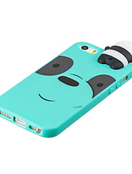 cheap -For iPhone 5/5S/SE 3D Cute Coloured Painted Animal TPU Anti-scratch Non-slip Protective Cover Back Case