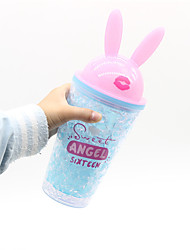 cheap -450ML Creative Cartoon Cute Rabbit Ears Design My Water Bottle High Quality Plastic Ice Water Bottle  Sports Travel