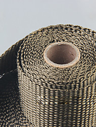 cheap -Titanium Exhaust Header Pipe Heat Wrap Heat Insulation Kit Roll with Installation Cable Tie