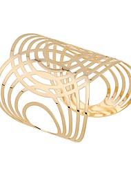 cheap -Women's Cuff Bracelet Hollow Out U Shape Statement Alloy Bracelet Jewelry Gold For Festival