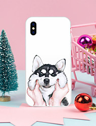 cheap -Case For iPhone X XS Max XR XS Back Case Soft Cover TPU White husky TPU for iPhone5 5s SE 6 6P 6S SP 7 7P 8 8P