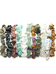 cheap -Women's Bracelet Handmade Link Bracelet Classic Happy Simple Bohemian Natural Cute Stone Bracelet Jewelry Pink / Turquoise / Cool White For Gift Street