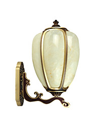 cheap -Outdoor Wall Lamp Waterproof Rustproof Wall Lantern Gold Antique Wall Sconces for Garden Patio Square Rustic Outdoor Wall Light Fixtures