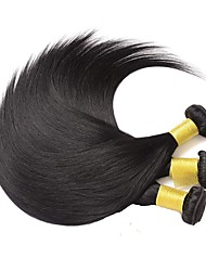 Недорогие -3 Связки Бразильские волосы Прямой Натуральные волосы 100% Remy Hair Weave Bundles 300 g Головные уборы Человека ткет Волосы Удлинитель 8-28 inch Естественный цвет Ткет человеческих волос