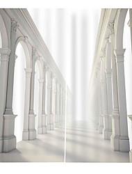 Недорогие -новая 3d печать прозрачные шторы утолщенные полные занавески ткани для гостиной водонепроницаемый против морщин чистые полиэфирные занавески для душа