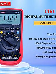 Недорогие -цифровой мультиметр uni-t ut61d true rms auto range 6000 отсчетов современные цифровые мультиметры acdc метр cd подсветка