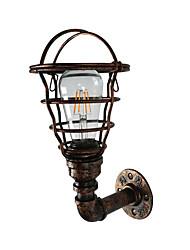 cheap -Antique Wall Lamp Bird Cages Design 1 Light Industrial Water Pipe Wall Sconces Edison Bulb Night Lighting American Simplicity Wall Lamps for Hallway Bar Aisle