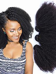 """Недорогие -3 Связки Монгольские волосы Афро Натуральные волосы 300 g One Pack Solution 8""""-26"""" Нейтральный Ткет человеческих волос Расширения человеческих волос"""