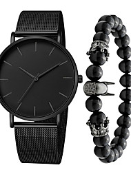 cheap -Men's Dress Watch Quartz Modern Style Stylish Stainless Steel Black / Silver / Gold 30 m Water Resistant / Waterproof Casual Watch Cool Analog Casual Fashion - Black Rose Gold Gold One Year Battery