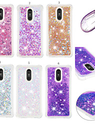 cheap -Case For LG LG Stylo 5 Shockproof / Dustproof / Flowing Liquid Back Cover 3D Cartoon / Glitter Shine Soft TPU