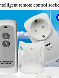 cheap -Wireless remote control Socket /Smart home socket plug/ AC110-265V living rooom light power ON/OFF Smart remote control /EU remote Socket  433mhz
