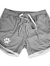 cheap -Men's Sporty / Active Slim Sweatpants / Shorts Pants - Animal Sporty / Print Black Red Gray US36 / UK36 / EU44 US38 / UK38 / EU46 US40 / UK40 / EU48 / Drawstring / Elasticity