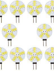 Недорогие -10 шт. 4 W Двухштырьковые LED лампы 300 lm G4 T 15 Светодиодные бусины SMD 5730 Тёплый белый Белый 12 V