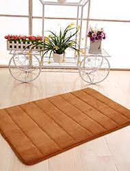 abordables -Dongguan pho_085m50x80cm épaisse corail polaire mémoire mousse lente rebond tapis tapis de sol salle de bains toilette tapis antidérapant tapis de porte violet