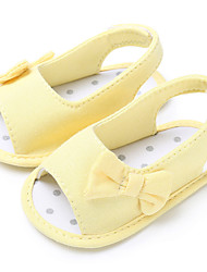 cheap -Girls' First Walkers Canvas Sandals Infants(0-9m) / Toddler(9m-4ys) Gray / Yellow / Pink Summer