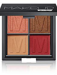 Недорогие -4 цвета Тени Матовое стекло Тени для век Pro Прост в применении Офис Повседневный макияж косметический Подарок