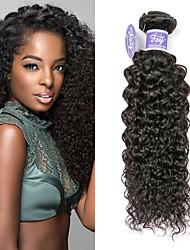 cheap -3 Bundles Indian Hair kinky Straight Virgin Human Hair Remy Human Hair Natural Color Hair Weaves / Hair Bulk Extension Bundle Hair 8-28 inch Natural Human Hair Weaves Fashionable Design Women