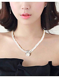 cheap -Women's Pendant Necklace Necklace Pearl Necklace Imitation Pearl Beige Gray 45 cm Necklace Jewelry 1pc For Daily School Street Holiday Festival