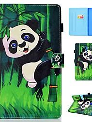 Недорогие -Кейс для Назначение SSamsung Galaxy Tab 4 10.1 / Tab S4 10.5 (2018) / Tab A2 10.5(2018) T595 T590 Бумажник для карт / Защита от удара / со стендом Чехол Панда Твердый Кожа PU