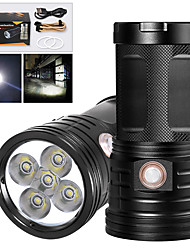 cheap -XM5 LED Flashlights / Torch Waterproof 4000 lm LED LED 5 Emitters Manual 3 Mode with USB Cable Waterproof Professional Anti-Shock Easy Carrying Durable Camping / Hiking / Caving Police / Military