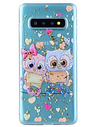 cheap -Case For Samsung Galaxy Note 9 / Note 8 Shockproof / Transparent / Pattern Back Cover Heart / Animal Soft TPU