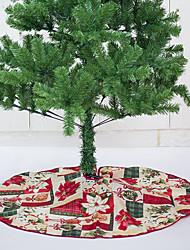 cheap -Pretty Printing Christmas Tree Skirt Flower Base Floor Mat Cover for Christmas Party Decor