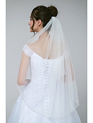 cheap -One-tier Glamorous & Dramatic / Sweet Wedding Veil Elbow Veils with Beading / Crystals / Rhinestones Tulle / Classic