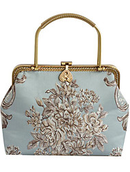 cheap -Women's Bags Polyester Evening Bag Embroidery Embroidery Floral Print Wedding Bags Wedding Party Event / Party Blue Blushing Pink Sky Blue