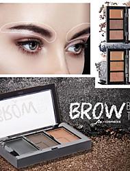 Недорогие -три цвета пудры для бровей крем сочетание бровей водонепроницаемый и прочный легкий цвет естественный длительный макияж бровей